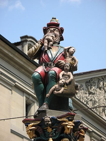 Child eater statue